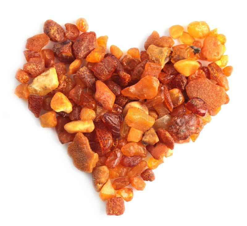 Coeur ambre image libre de droits