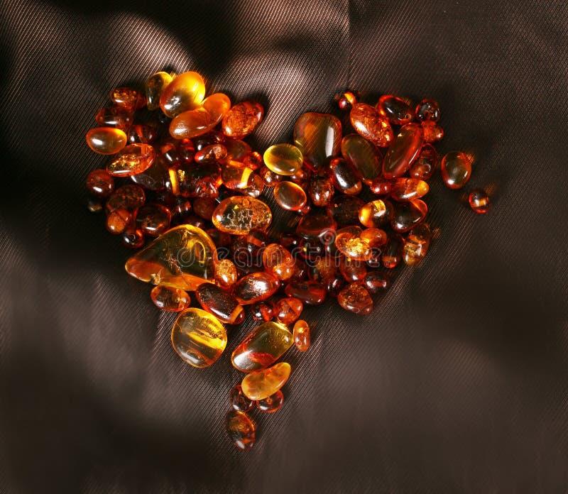 Coeur ambre photos libres de droits