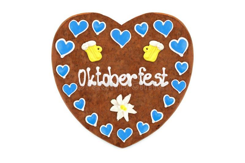Coeur Angleterre de pain d'épice d'Oktoberfest WI de Munich de festival d'octobre photographie stock