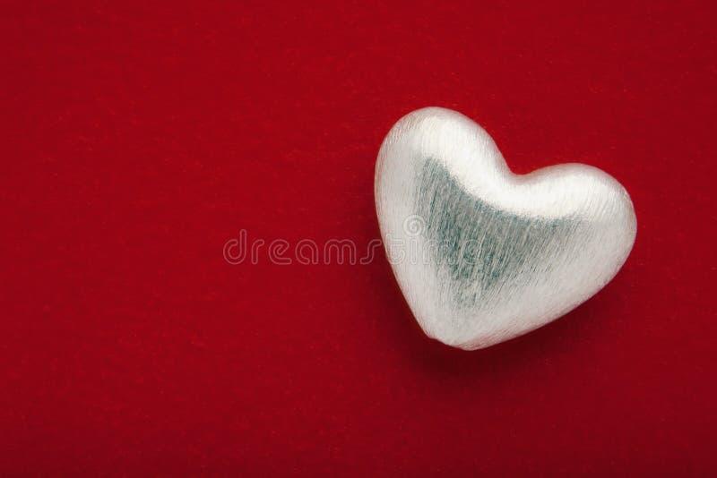 Coeur argenté photo stock