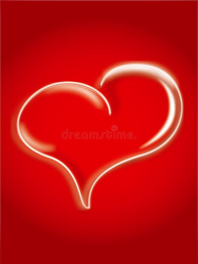 Coeur au-dessus du rouge photo stock