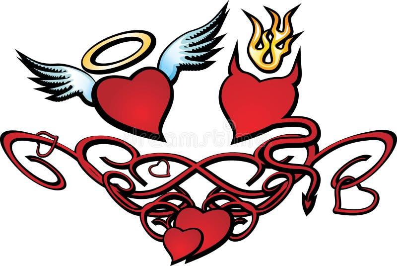 Coeur au jour Valentin illustration de vecteur