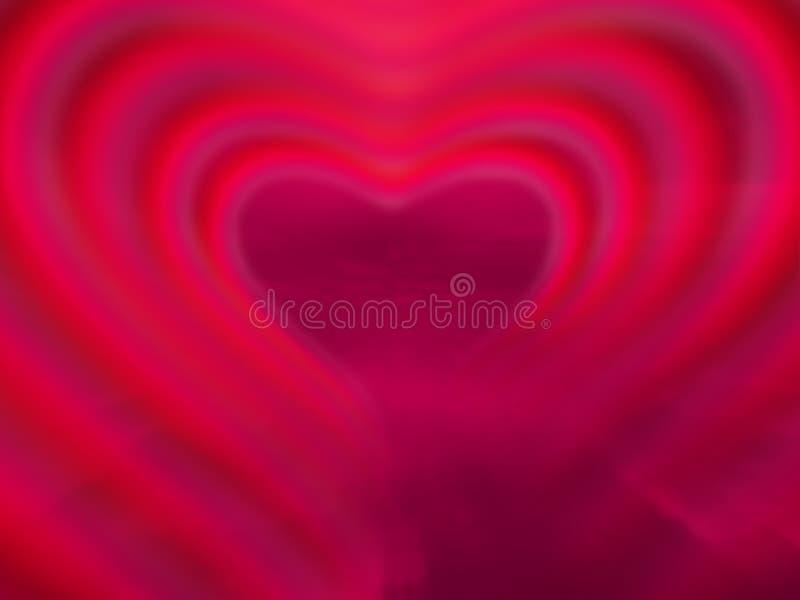 Coeur au néon rouge illustration stock