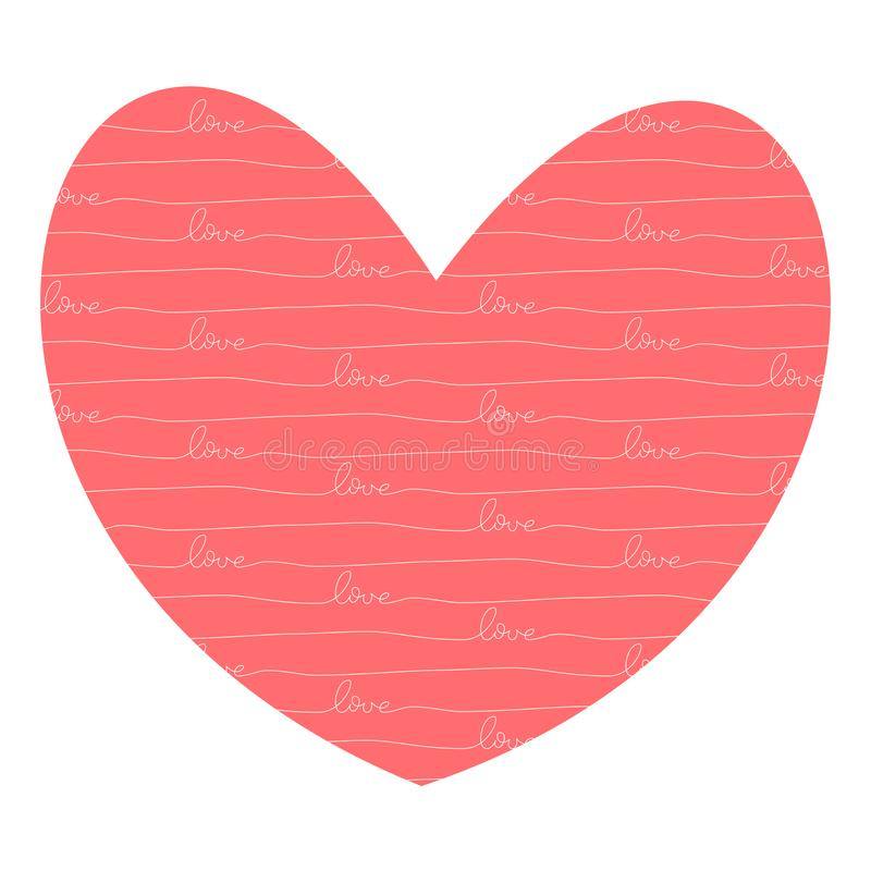 Coeur avec amour à l'intérieur illustration libre de droits