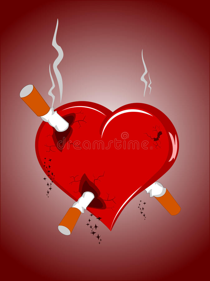 coeur avec des cigarettes illustration de vecteur. Black Bedroom Furniture Sets. Home Design Ideas