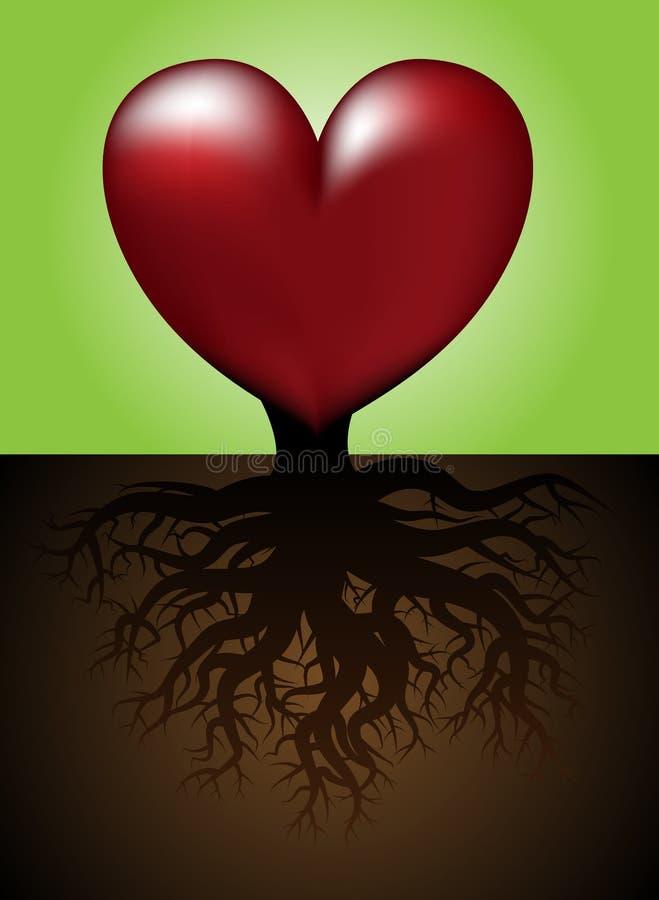 Coeur avec des fonds illustration stock