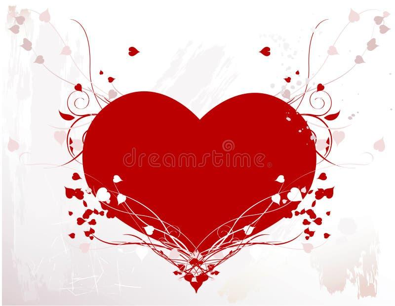 Coeur avec des vignes illustration libre de droits