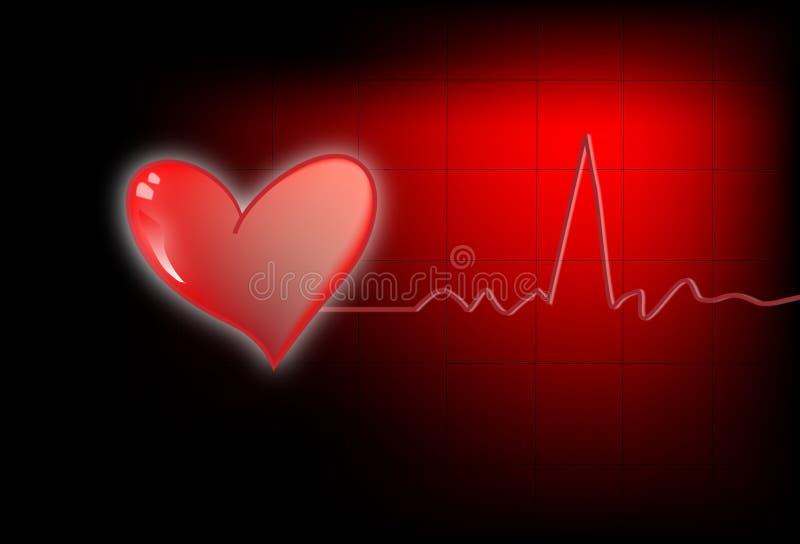 Coeur avec l'électro fond illustration stock