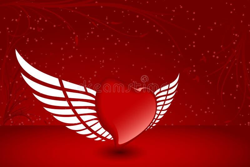 Coeur avec l'aile illustration stock