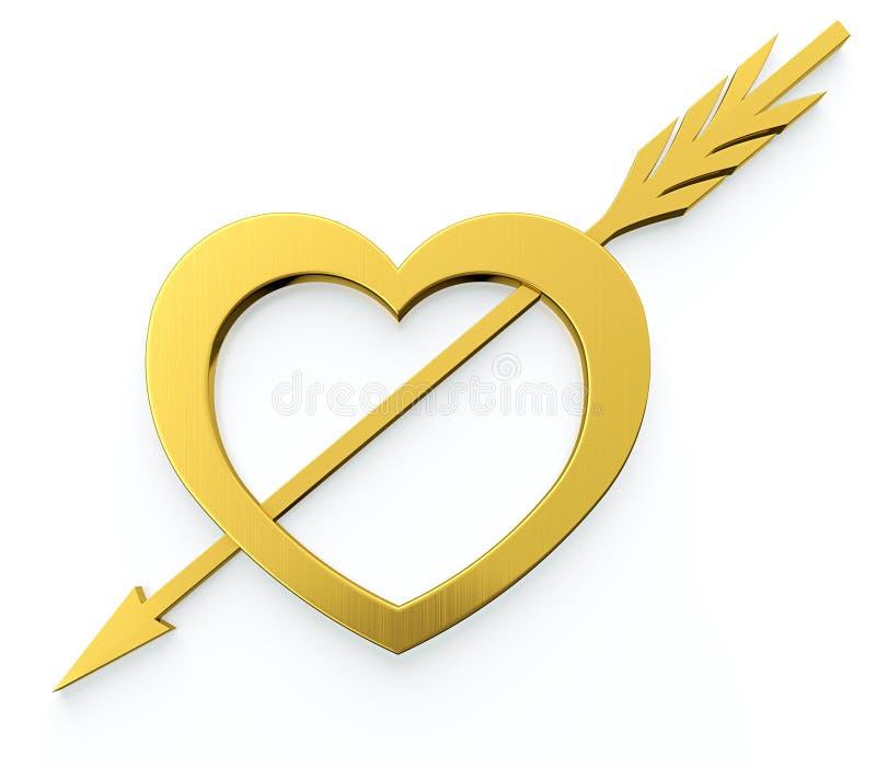 Coeur avec la flèche illustration de vecteur