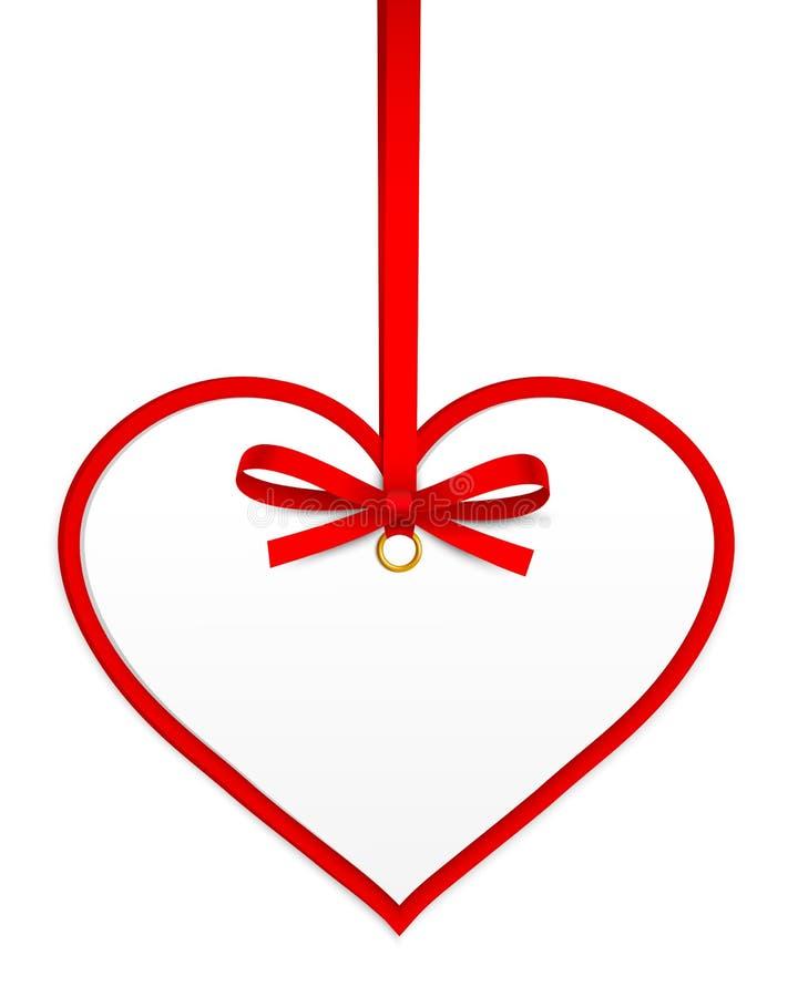 Coeur Avec La Proue Rouge Photo libre de droits