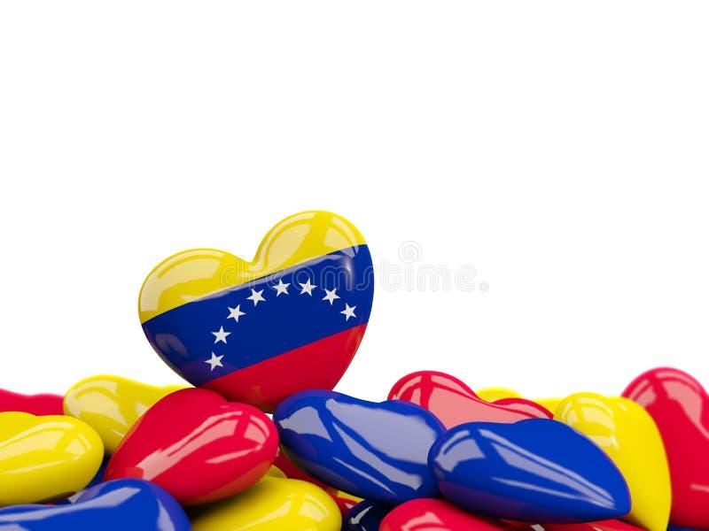 Coeur avec le drapeau du Venezuela illustration de vecteur