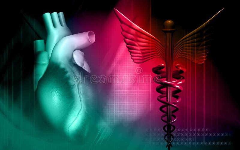 Coeur avec le logo médical illustration stock