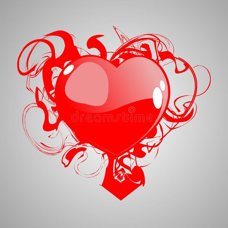 Coeur avec le sang illustration stock