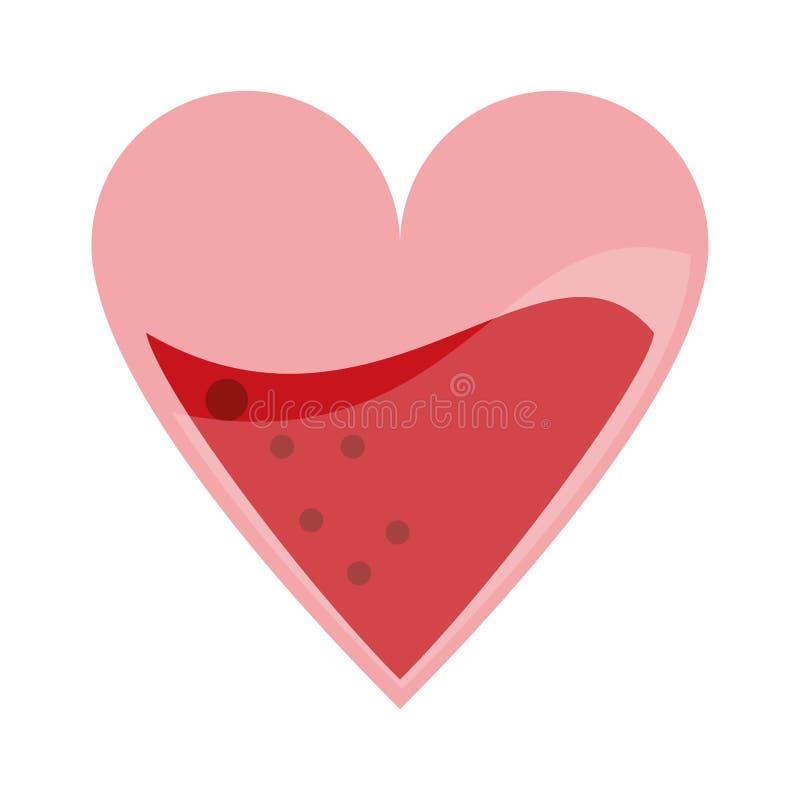 Coeur avec le symbole de sang illustration de vecteur