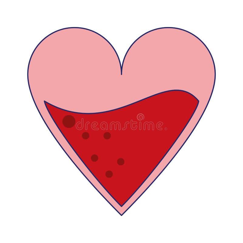 Coeur avec le symbole de sang illustration libre de droits