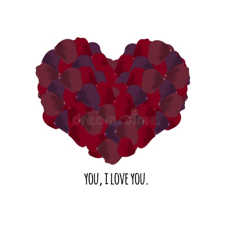 Coeur avec le texte images stock