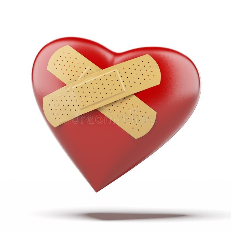 Coeur avec un bandage illustration de vecteur