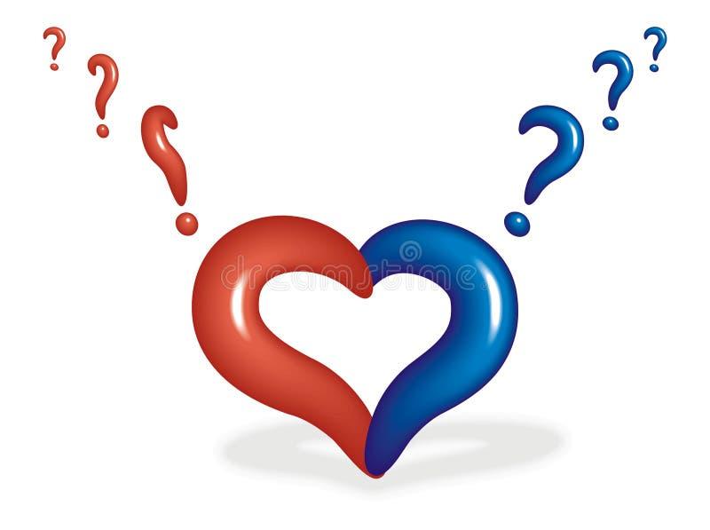 Coeur avec un point d 39 interrogation photos stock image 9653203 - Photo d un coeur ...