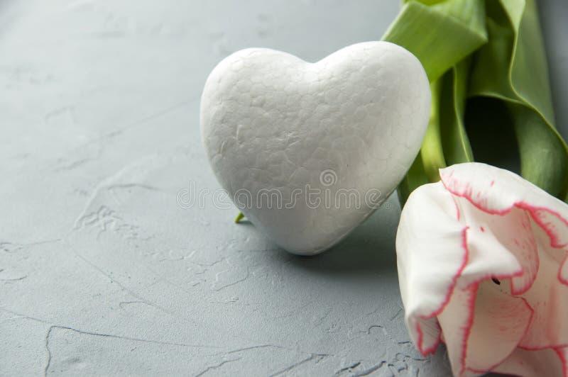 Coeur blanc image stock