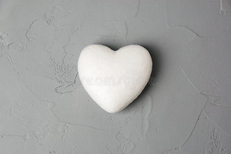 Coeur blanc photo stock