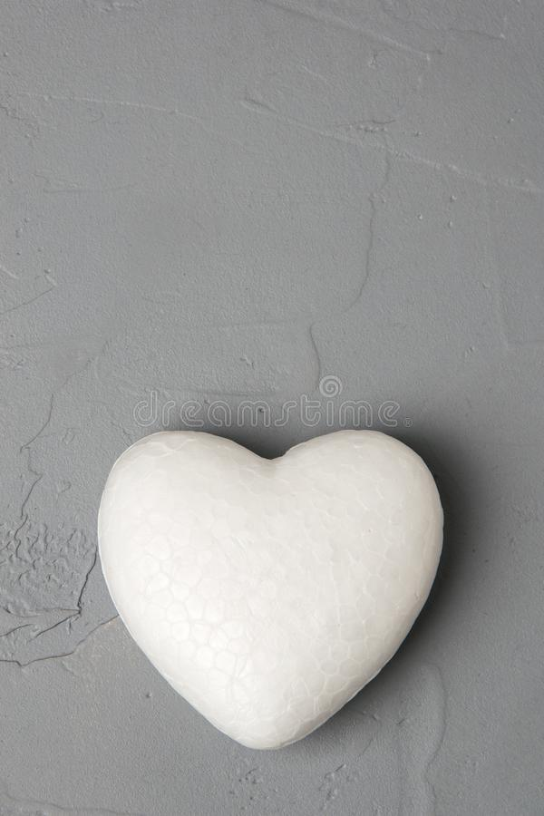 Coeur blanc images stock