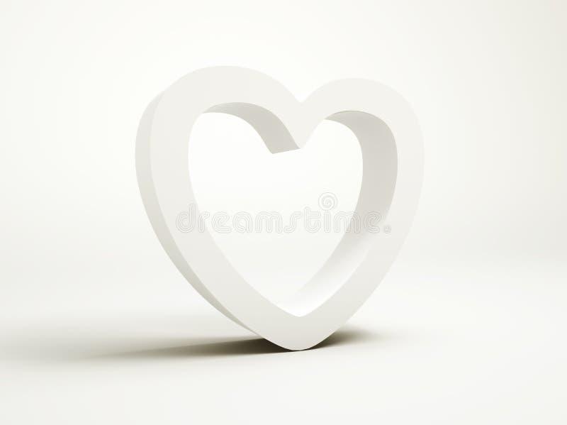 Coeur blanc illustration de vecteur