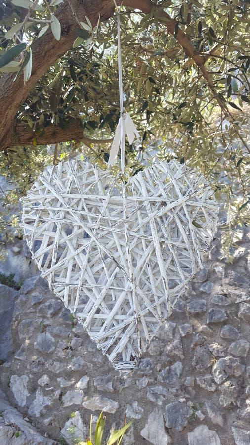 Coeur blanc photos stock