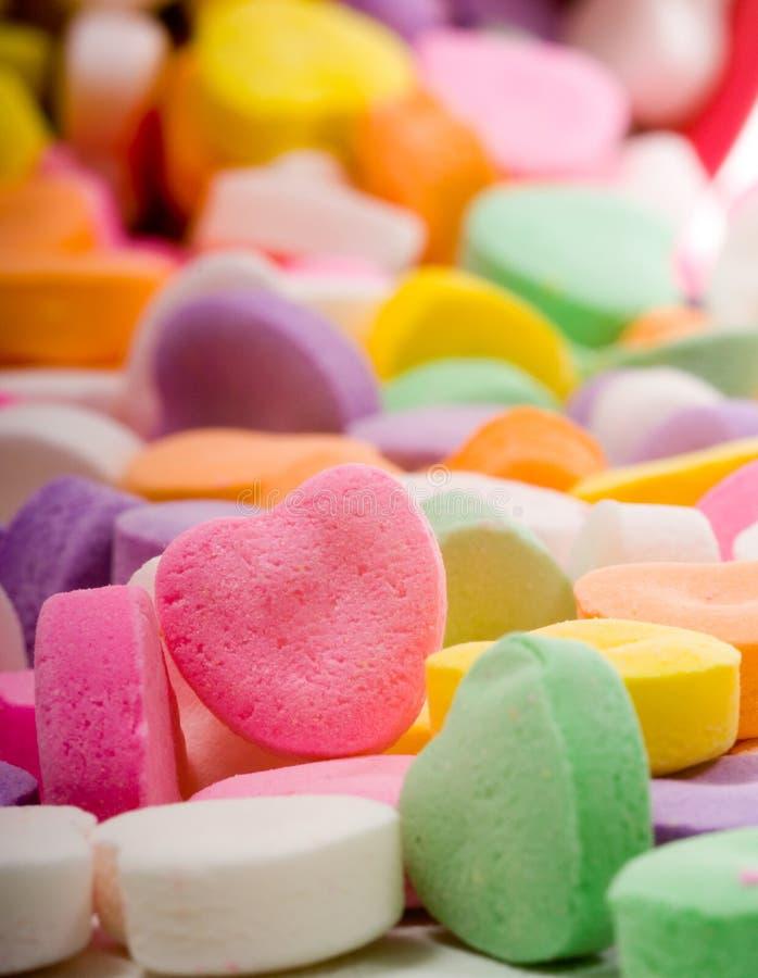 Coeur blanc de sucrerie image libre de droits
