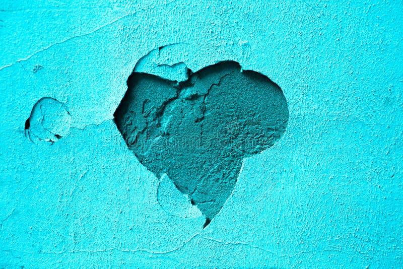 Coeur bleu de plâtre de fond photos libres de droits