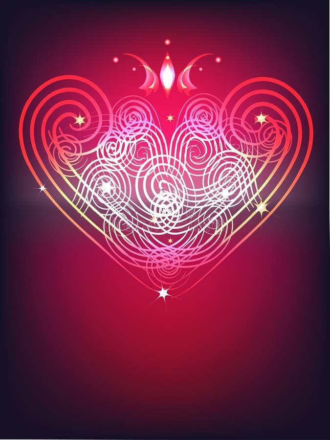 Coeur brillant illustration de vecteur
