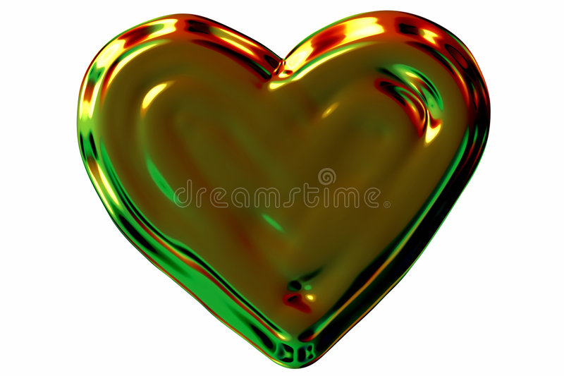 Coeur brillant illustration stock