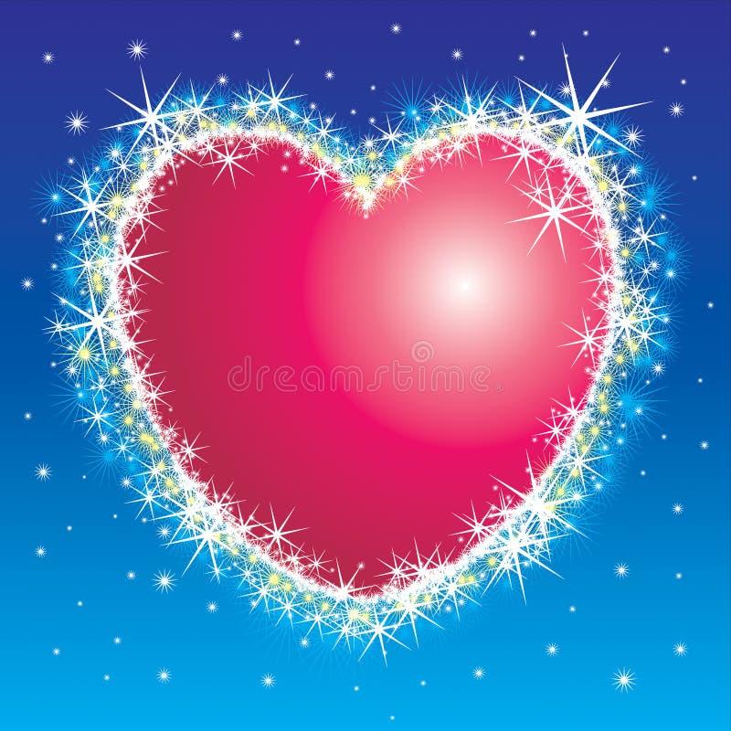 Coeur brillant illustration stock