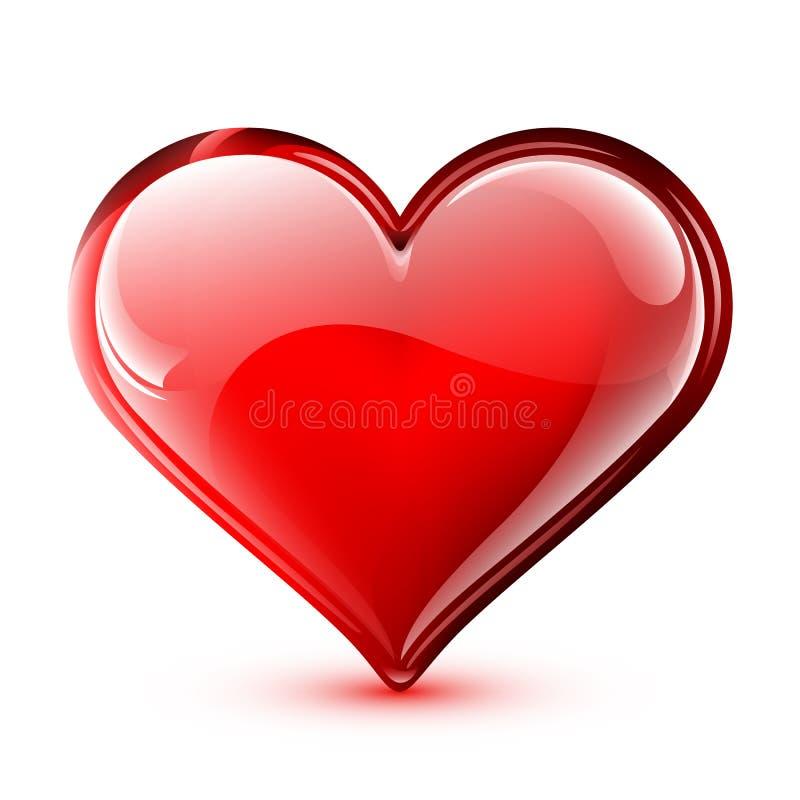Coeur brillant de vecteur illustration libre de droits