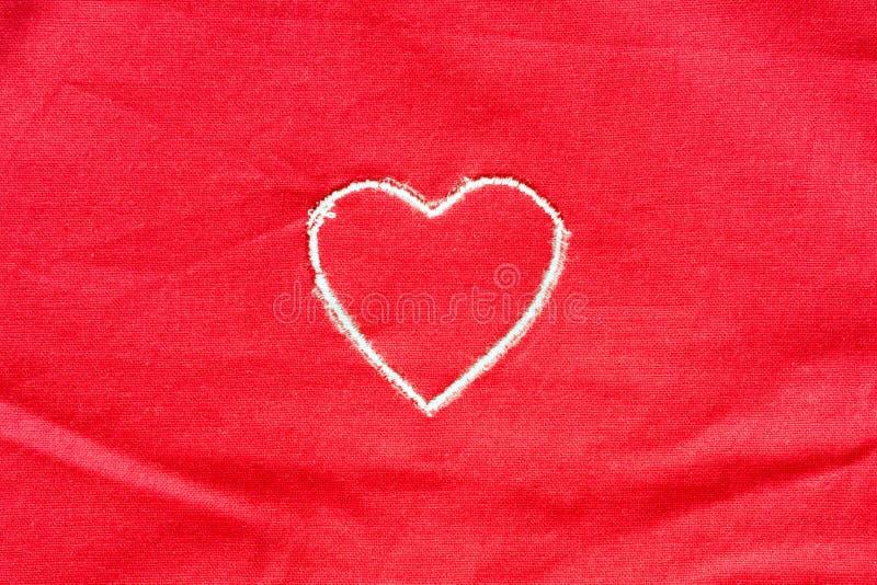 Coeur brodé image stock