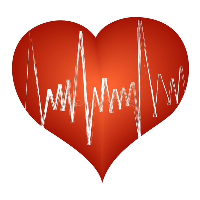 coeur cardiaque de battement illustration de vecteur