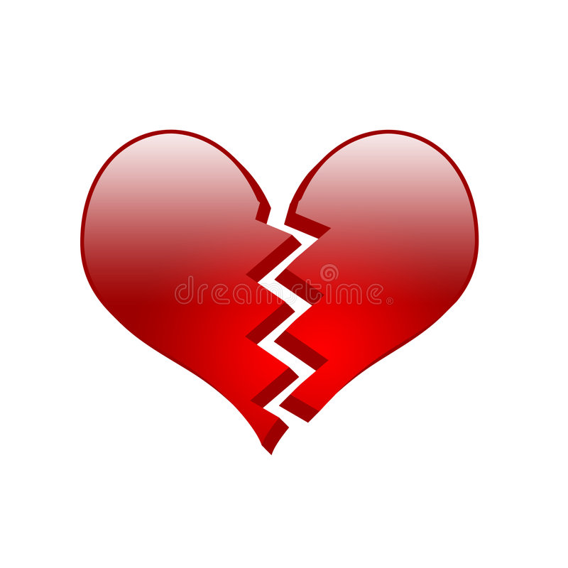 Coeur cassé [01] illustration stock