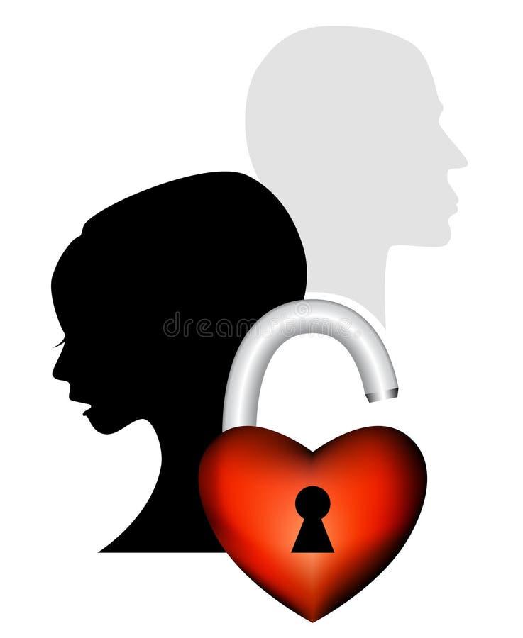 Coeur cassé illustration libre de droits