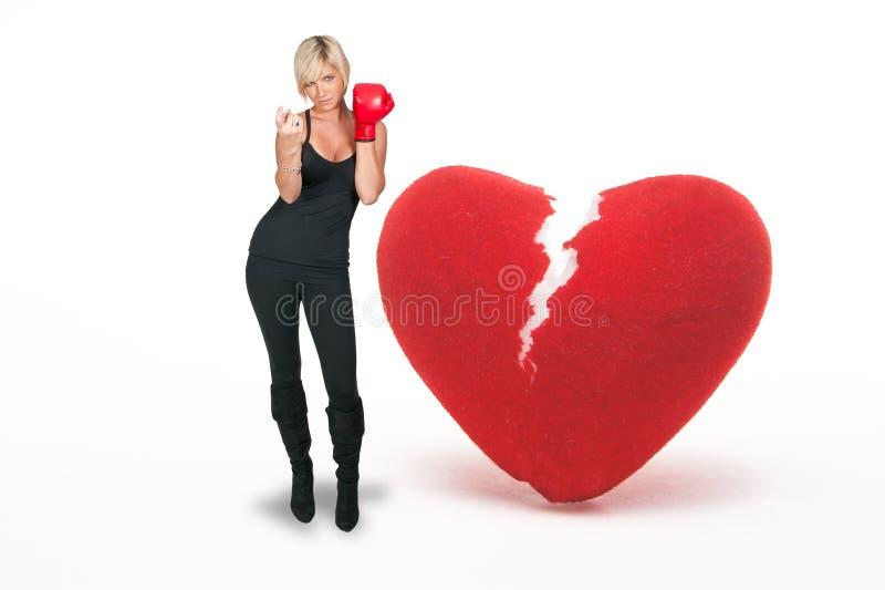 Coeur cassé photo stock