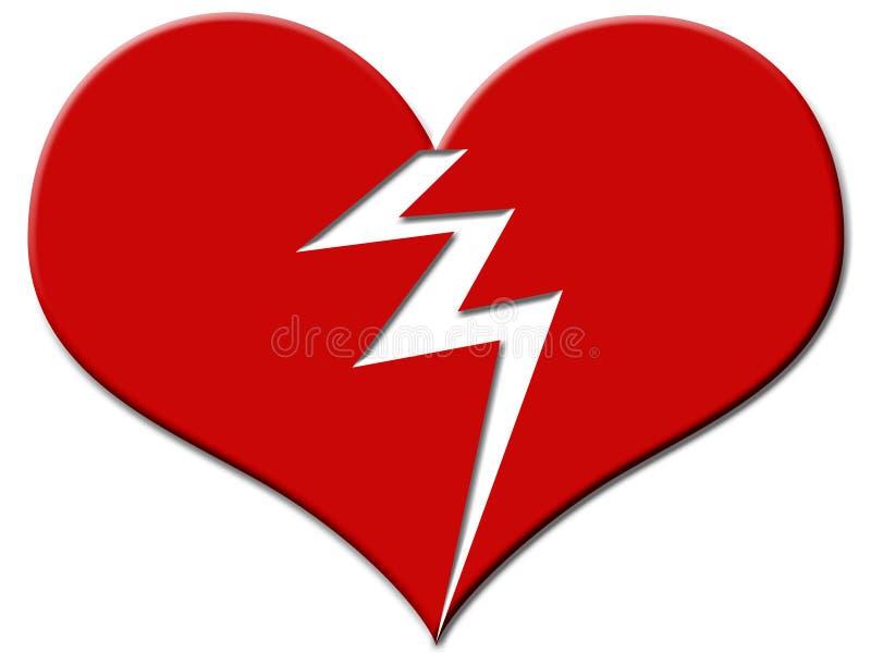 Download Coeur cassé illustration stock. Illustration du seul, desserré - 60460