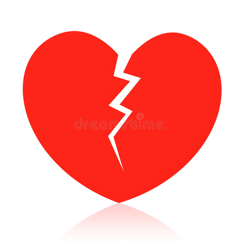Coeur cassé illustration de vecteur