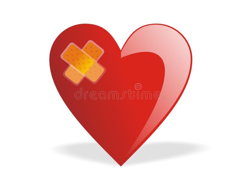 Coeur cassé curatif de Valentine illustration libre de droits