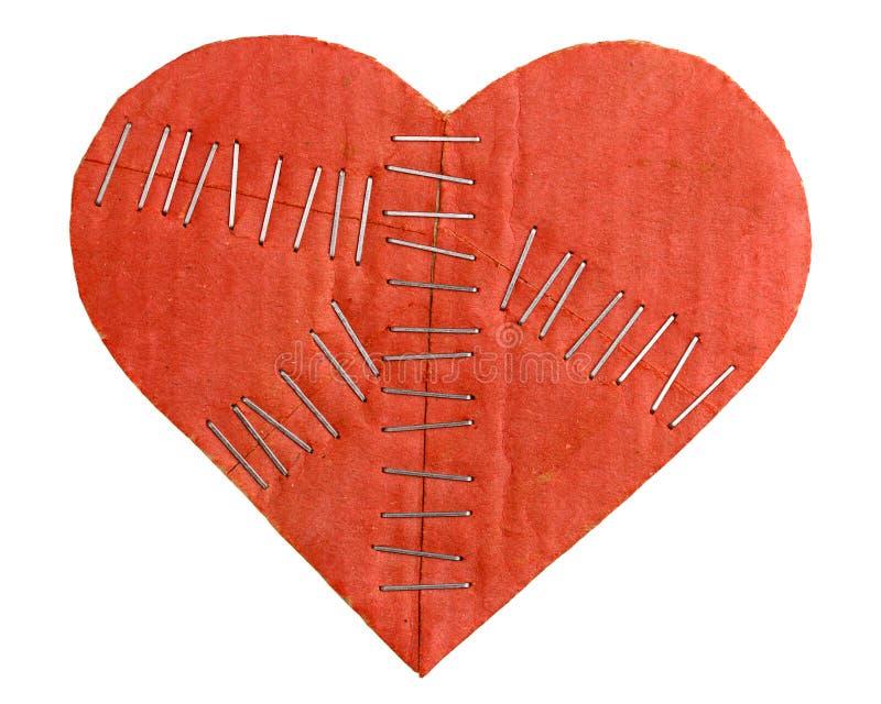 Coeur cassé de carton photos libres de droits