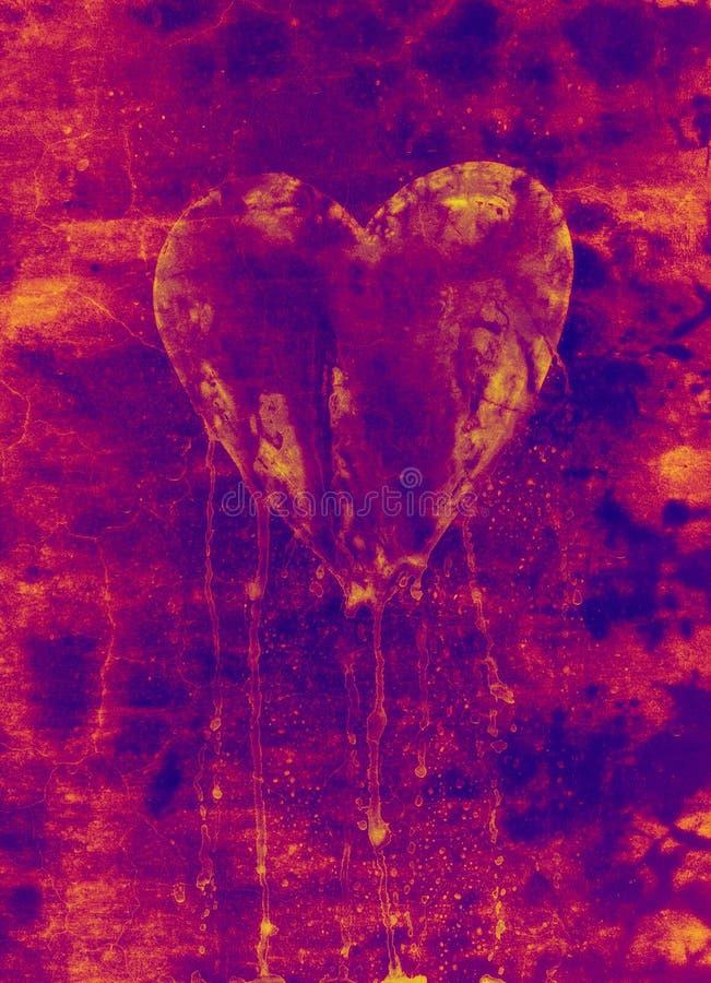 Coeur cassé et de purge illustration libre de droits