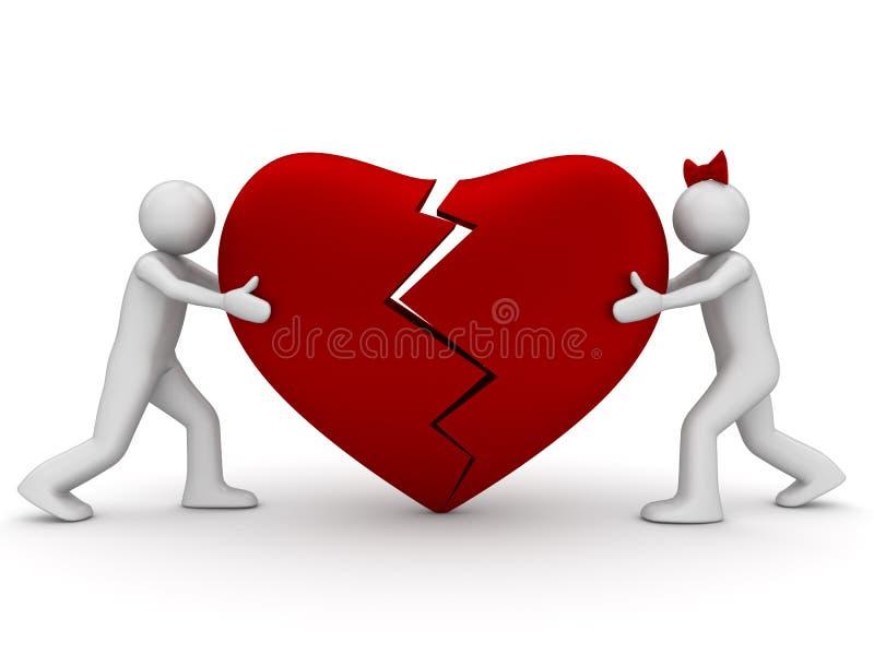 Coeur cassé se connectant photos libres de droits