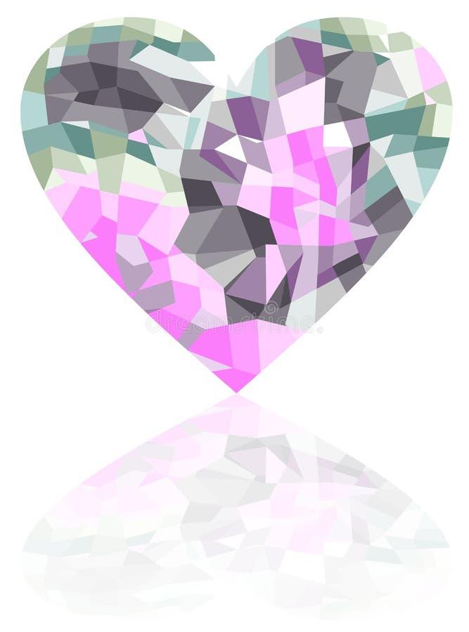 Coeur cassé sur un fond blanc illustration libre de droits