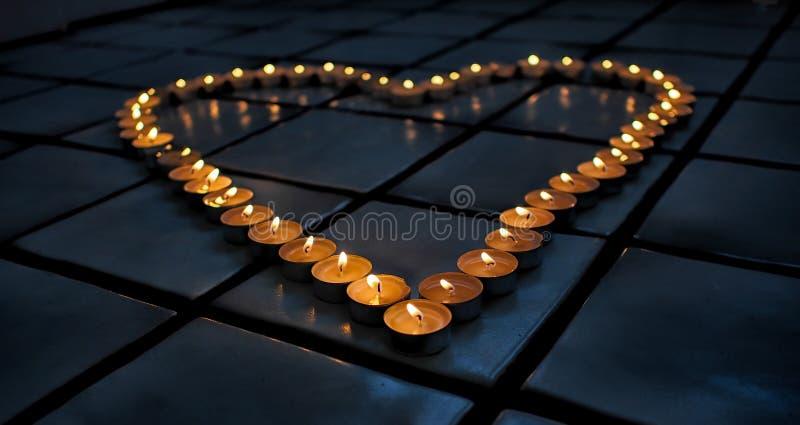Coeur chaud de bougie photos libres de droits