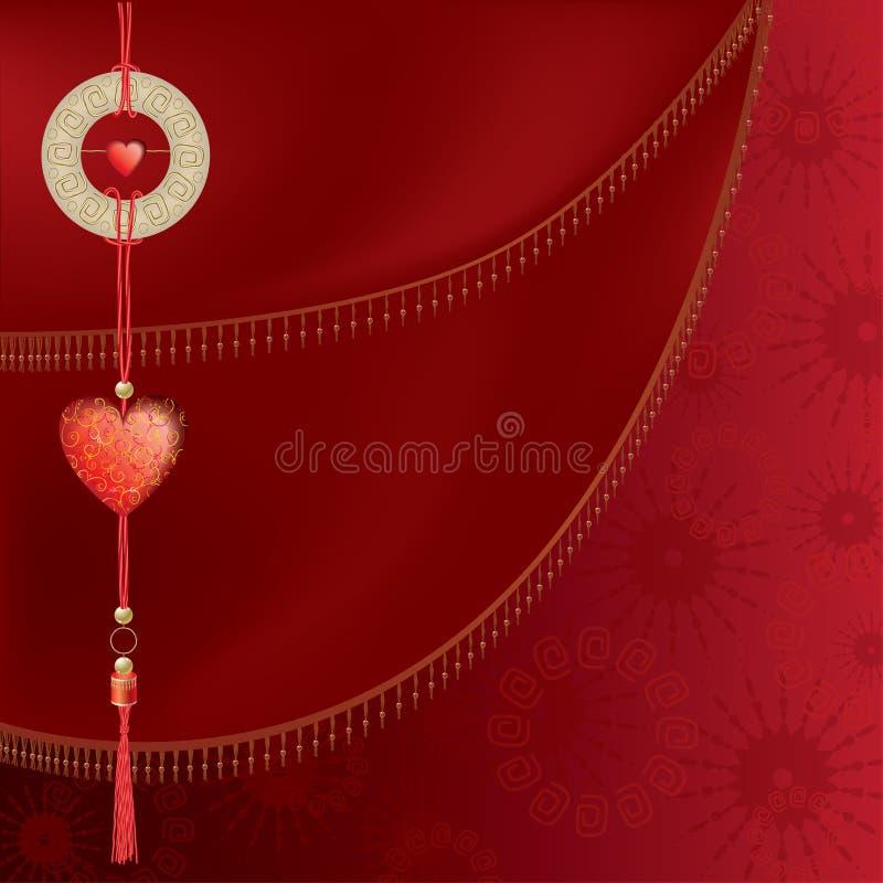 Coeur chinois illustration stock