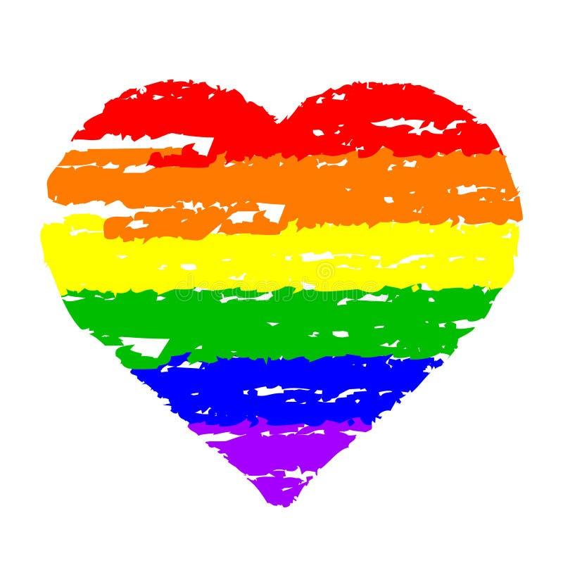 Coeur coloré illustration de vecteur