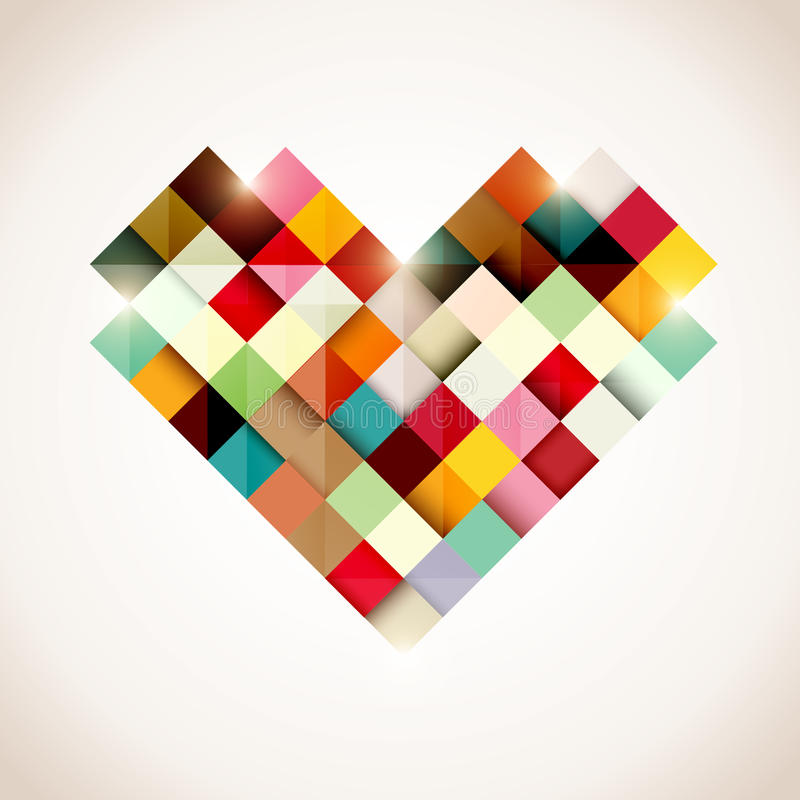 Coeur coloré illustration stock